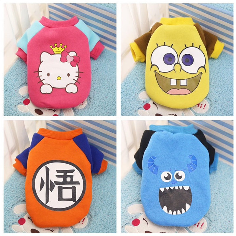 The new pet dog fashion clothes small dogs spring soft and comfortable cotton sweater coat Teddy bulldog dog clothes ...