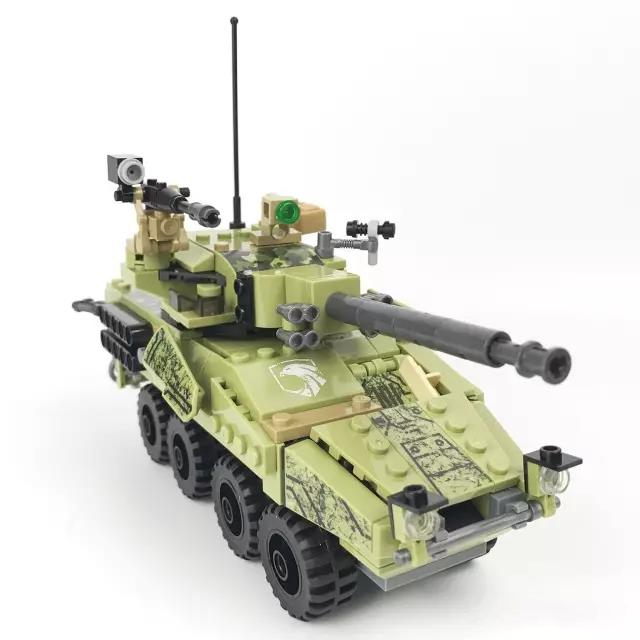 DIY Model Toy Black Gold Military Building Blocks Set Tank Field Armed Forces Army Soldier Figures Bricks Compatible with Lepins 743pcs set diy educational 8 in 1 armed building blocks model military weapon ship tank fighter assembling bricks toys kids gift