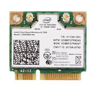Image 1 - Dual band For Intel Wireless N 7260 7260HMW AN Half Mini Pci e 300Mbps Wireless Wifi + Bluetooth 4.0 Notebook Wlan card