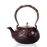2016 Cast Iron Tea Pot No Coating Japanese Kung Fu Tea Set Handmade Japan Southern Kettle Pot With Filter 1200CC Hot Sale
