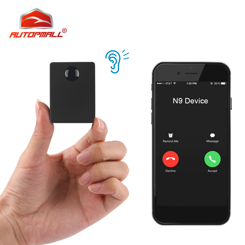 N9 Mini GSM Device Audio Monitor Spy Listening Surveillance Personal Mini Voice Activation Built in Two MIC 12 Days Standby Time
