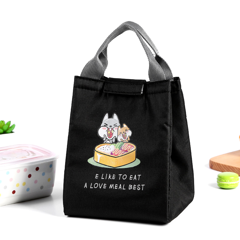 BONAMIE New Cute Cartoon Lunch Bag Totes Girl Portable Waterproof Insulated Big Cold Oxford Picnic Bag Women Thermal Cooler Bag
