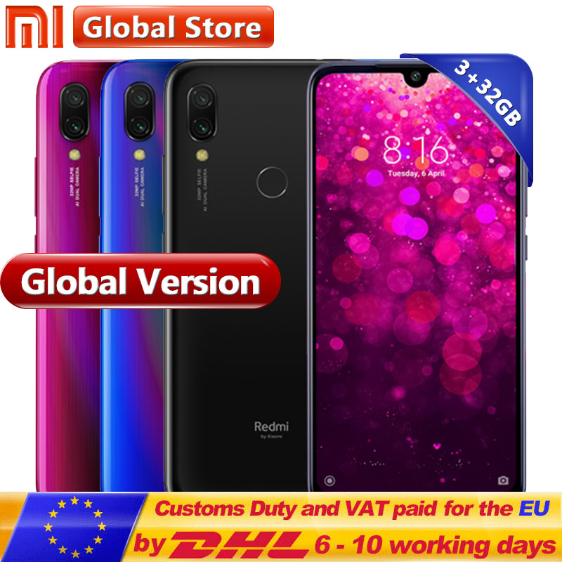 "Global Version Xiaomi Redmi Y3 3GB 32GB Smartphone Snapdragon 632 Octa Core 4000mAh 6.26"" Front 32MP Aura Prism Design"