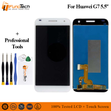 100% Tested One by One Brand New LCD Display for Huawei G7 LCD Screen with Touch Screen Digitizer with Frame Assembly Free Ship 100% tested new lcd screen with touch screen digitizer assembly full sets for huawei ascend g6 black or white