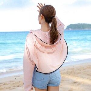 Image 5 - BINGYUANHAOXUAN 2019 ใหม่ UV ครีมกันแดดโปร่งใสเสื้อผ้าเสื้อแขนยาวผู้หญิงชายหาดป้องกันดวงอาทิตย์   ups