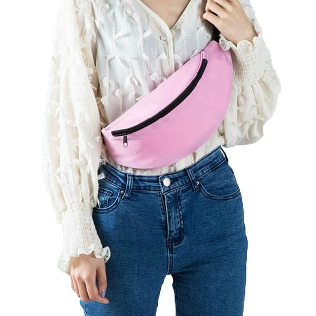 נשים חגורות תיק מותניים תיק אופנה עמיד למים חזה תיק יוניסקס Fann חבילת bum ירך התחת בטן תיק ארנק באיכות גבוהה חגורת שקיות
