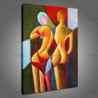 Hand Painted Canvas Painting Poster Sexy Naked Women Oil Painting Abstract painting Wall Pictures For Living Room Home Decor