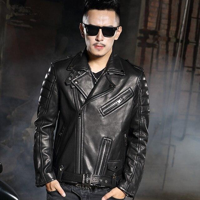 Coreano Qualità alta biker uomini in pelle giacca Di corta stile Rpqzw41A1