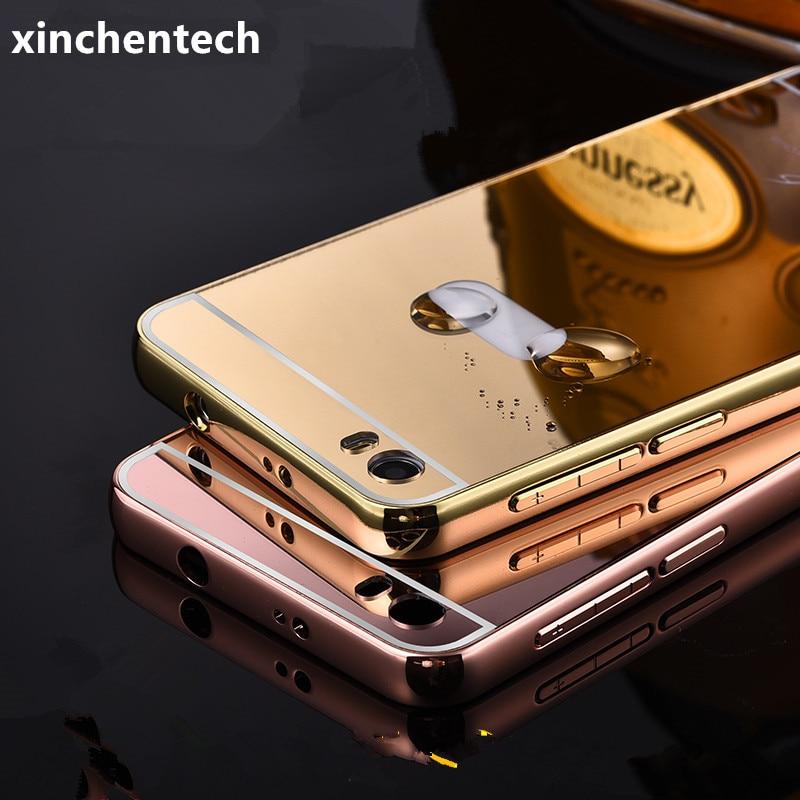 Xinchentech Untuk Huawei Honor 6 Kasus Mewah Cermin Logam Bingkai + - Aksesori dan suku cadang ponsel - Foto 1