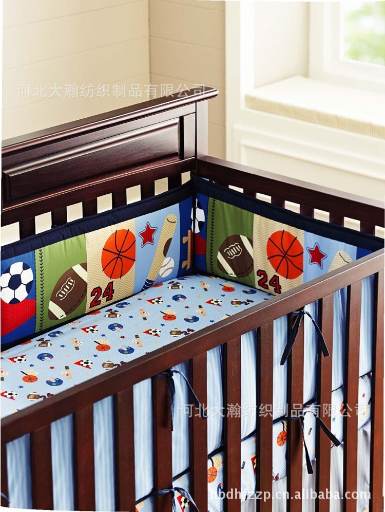 Printing Embroidery Basketball Football Baseball Pattern Baby Bedding Set Quilt Per Mattress Cover 6pcs Crib In Sets From Mother