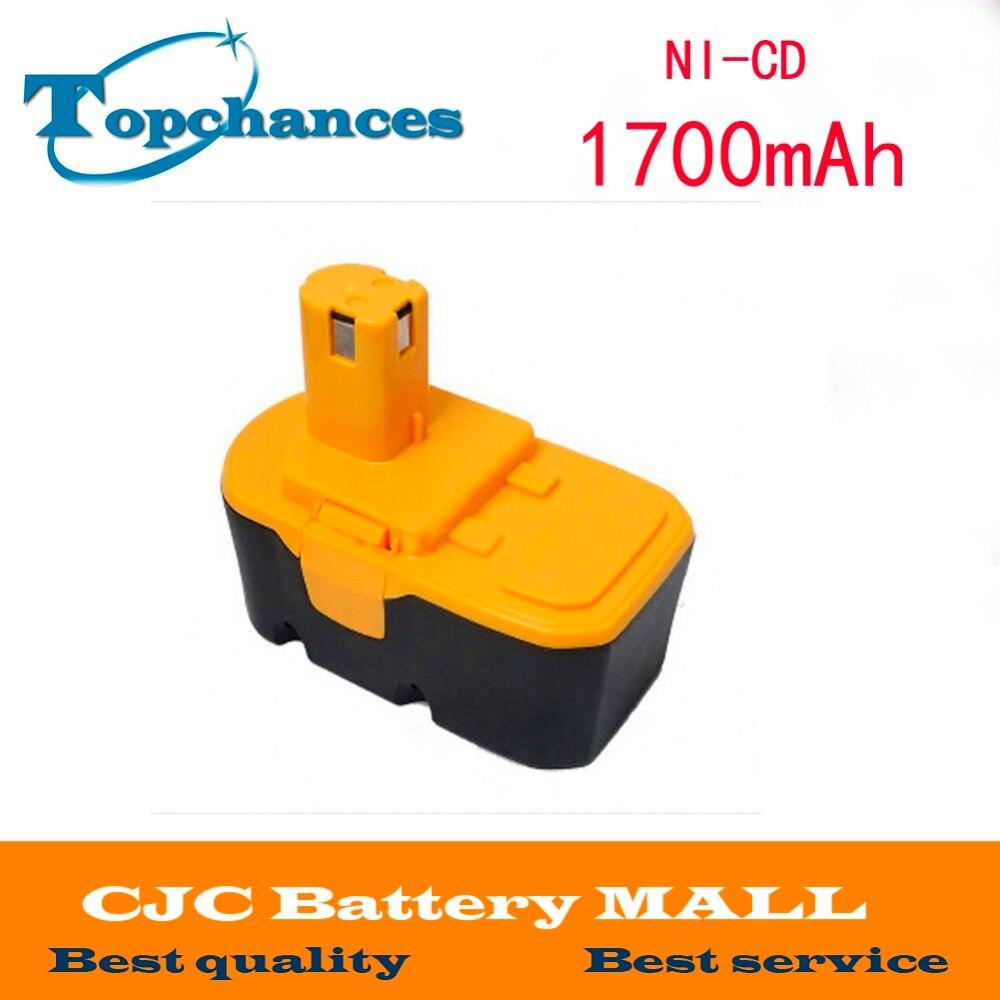Replacement Power Tool Battery 18V Ni-CD 1.7Ah for Ryobi ABP1801 ABP1803 BCP1817/2SM