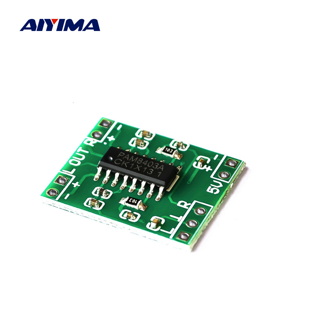 AIYIMA PAM8403 Mini Digital Amplifier Audio Board 2x3W Class D Stereo Power Amplifier 5V USB Power Supply