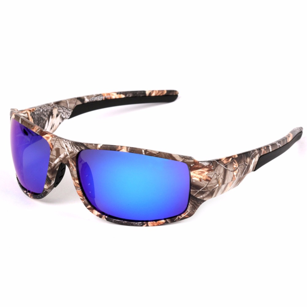 LumiParty Outdoor Sport Fishing Sunglasses with Camouflage Frame Polaroid UV400 Glasses for Mens Fishing Hunting Boating