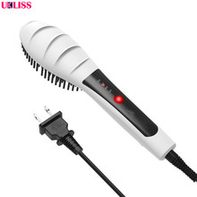 Cheapest prices Professional LED Hair Straightener Comb thermoregulator Ionic Electric Brush hair brush electric rotating flat iron set