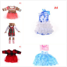 Clothes for doll fit for 43cm Bald head baby toy new born doll and American doll fashion Ballet princess dress(China)