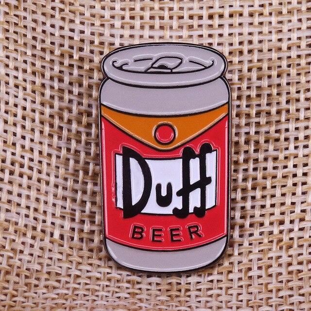 Duff Beer Simpsons pin huy hiệu trâm Duffman Sinh Nhật Món Quà cho cha Thanh Hài Hước Nghệ Thuật cho Người Đàn Ông Hang Động