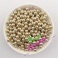 Frete Grátis! atacado 1000 Pcs 6 MM Ouro Banhado Suave Rodada Espaçadores Beads CCB Contas de Plástico Não Metal Contas CDWB-517632