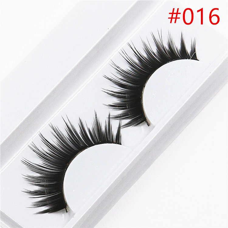 Yeni 1 çift satış 3D sahte kirpikler kore doğal çıplak makyaj uzun vizon kirpik el yapımı göz Lashes makyaj seti hediye # H027