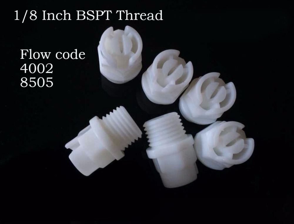 1 8 Inch plastic spray nozzle flat fan shape water 4002 8505 liquid flow PP non