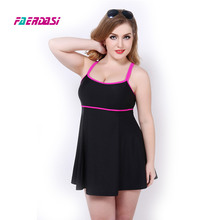Women Plus size One-piece Bathing suit Dress Swimsuit Swimwear Push up One piece Swimming suit Female Monokini