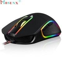 Mosunx E5 Yüksek Kalite 3500 DPI 6 Düğmeler Solunum LED PC Gamer için Optik Kablolu Gaming Mouse #0