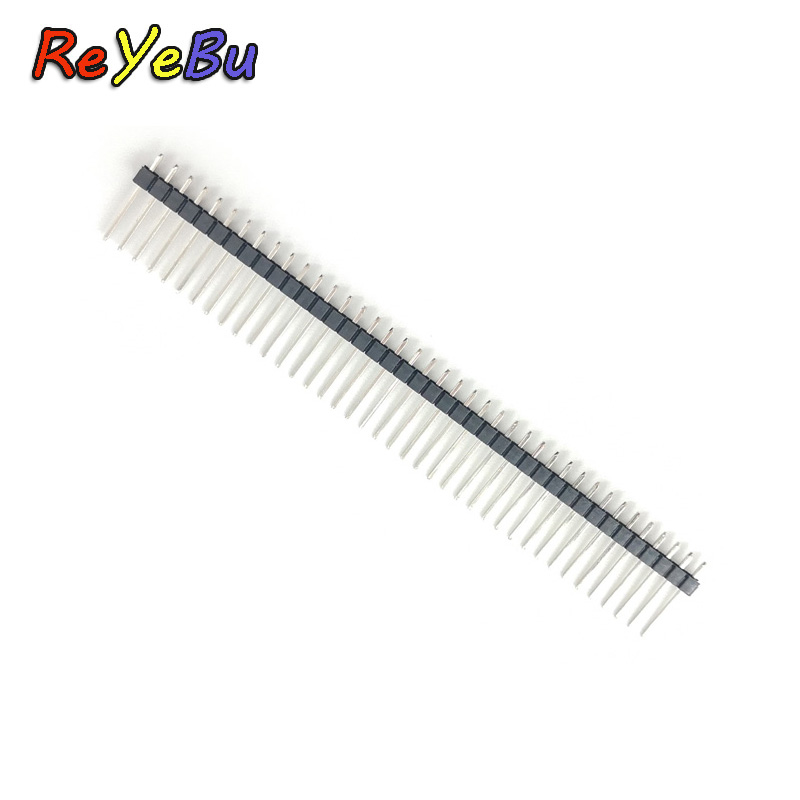 200pcs/lot  1*40 Pin Header Single Row Needle Straight Long 15mm Pitch 2.54mm