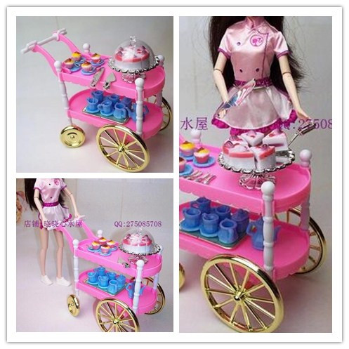 case for barbie doll kitchen furniture sets accessories kitchen cooking siwan cake car dining car