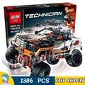 1386 unids Serie Técnica Con Mando A Distancia 4x4 Rock Crawler 20014 diy modelo kit de construcción de bloques de regalos juguetes compatible con lego