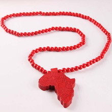 African Style Wooden Pendant Necklace