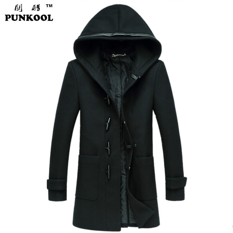Popular Hooded Wool Coat Men-Buy Cheap Hooded Wool Coat Men lots