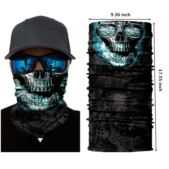 Motorcycle Face Mask Halloween Scarf Mask face shield Head Scarf Neck Warmer Windproof Sun Mask Balaclava motorcycle Biker Masks 1