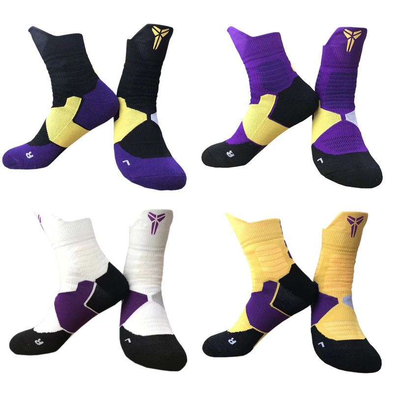 1*Pair Of Unisex Outdoor Sports Socks Anti-slip Towel Thickened Basketball Running Personal Stylish Colorful Thermal Socks.