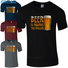 """""""Beer Is Always The Answer"""" men's t-shirt"""