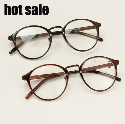 2015 new Vintage round glasses frame plain mirror influx of big men ...
