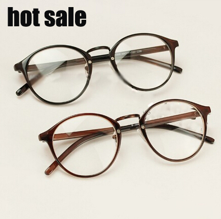 2015 new Vintage round glasses frame plain mirror influx of big men ...