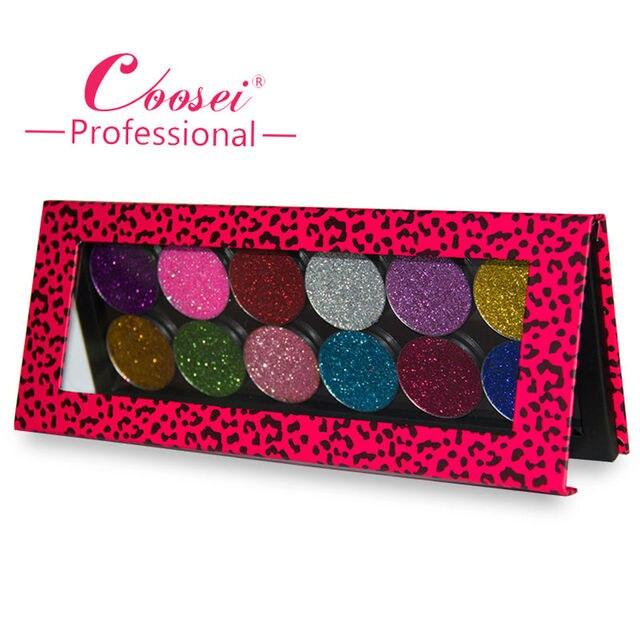 12 Kleuren Glitter Eyeshadow Palette Poeder Make Eye Glitter Beauty Pigment Cosmetica Make DIY Magnetische Eyeshadow Palette