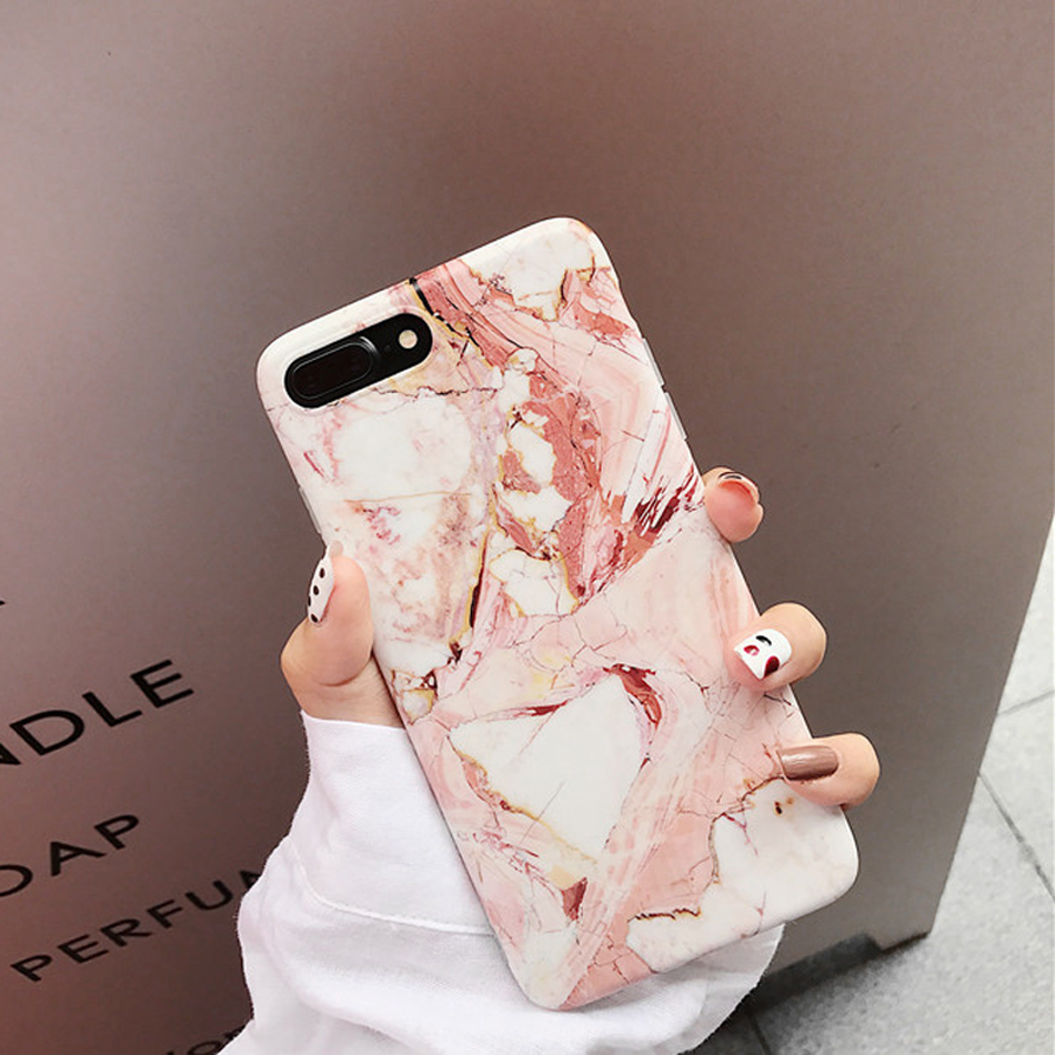 Moskado Shell Phone Case With Glossy Granite Marble Stone Cover For iPhone 11 Pro X XS Max XR 16