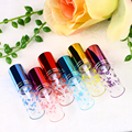 6pc/lot 5ML Printed Love Heart Woman Glass Perfume BottlesColorfull Pump Cap and Spray Refillable Empty Containers Atomizer