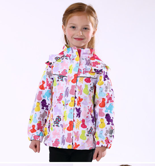 Free shipping- children/kids/girls spring/autumn jacket w cute animal print, a little waterproof and windproof, size 92 to 116 свитшот print bar spring to life
