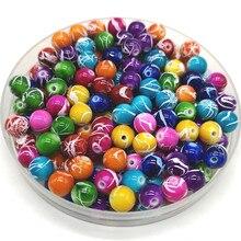6mm-20mm forma redonda contas de jóias fazendo contas acrílicas multicolorido solto grânulo jóias diy acessório # YKL28-35
