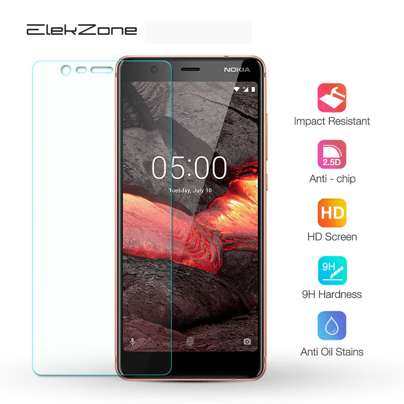 For Nokia 3 3.1 Plus Tempered Glass Screen Protective Film Glass Protector For Nokia 2.1 5 5.1 Plus 6 9H Glass Transparent Film