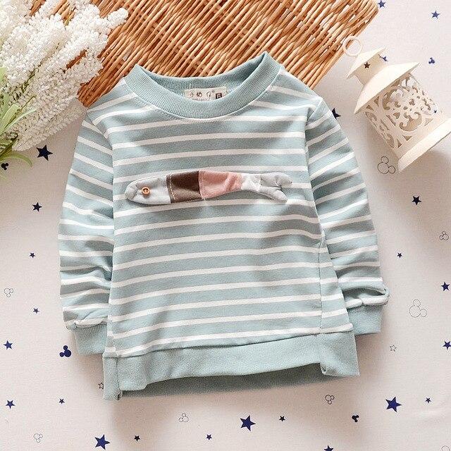 Autumn Baby Clothes Toddler Baby Boy Girls T-shirt Striped T Shirt Top Long Sleeve Children Shirts Tee Korean Children's T-shirt