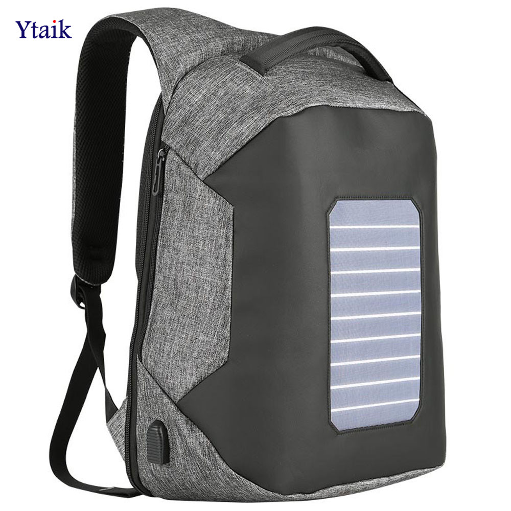 Anti-Theft Backpack Solar Laptop Backpack USB Charging Notebook Computer Mochila Bags Travel Women Student School Bag 15.6Inches dy0606 ladies bag 15inch women backpack suit for 14 15 notebook laptop bag student school bag travel mountaineering bag