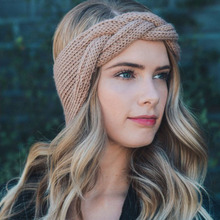 2019 Headband Knit Braided Solid Headbands Vintage Cross Knot Elastic Hairbands Bandanas Girls Twisted Hair Accessories недорого