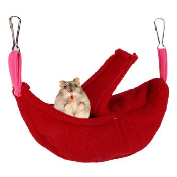 2018 Pets Hamster Small Animals Hammock Bed Mat Cotton Cage Hanging House Pet Sleeping Bed Nest Rat Hamster Toys Cage Swing h2 1