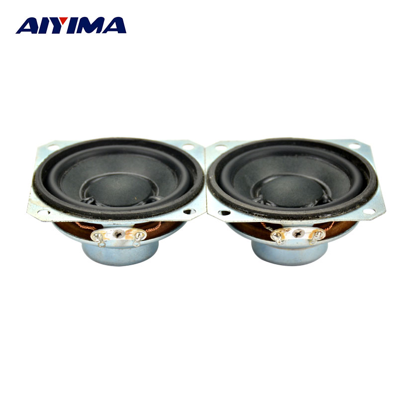AIYIMA 2PCS New 8 ohms 3W 2 inch Total Width 57mm DIY Audio Neodymium Full Range Bookshelf Speaker