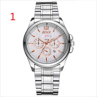 Для мужчин s часы лучший бренд класса люкс Спорт Кварцевые часы для мужчин бизнес нержавеющая сталь силиконовые водонепроница