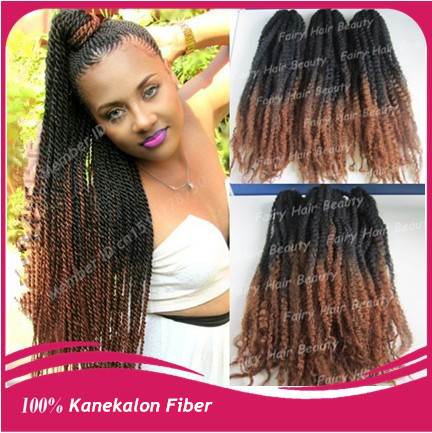 Stock Top Quality 20 Folded Black Brown Ombre Marley Braid 100