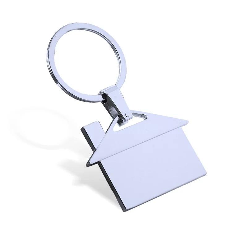 Darmowa wysyłka przez DHL 100 sztuk/partia nowy stop cynku domu breloki metalowe puste domek breloki do kluczy dla nieruchomości prezenty w Breloczki na klucze od Biżuteria i akcesoria na  Grupa 1