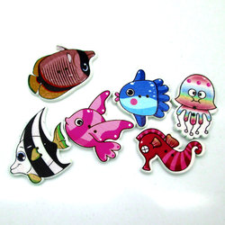 50pcs set multicolor fish botones 2 holes printing octopus buttons wood sewing accessories scrapbooking knopf bouton.jpg 250x250